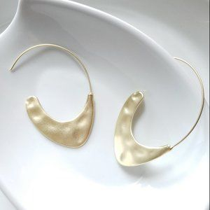 New! Hammered Gold Hoop Earrings